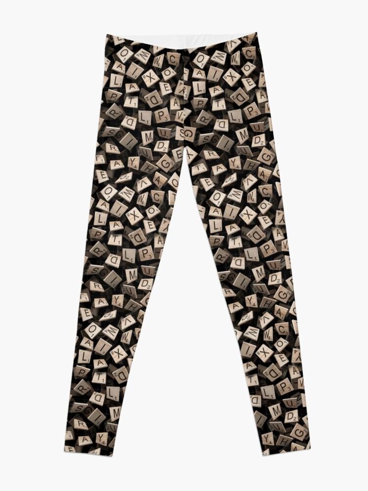 Alternate view of Scrabble Tile Madness Leggings