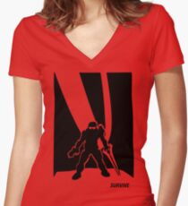 Survive- Noble Six Women's Fitted V-Neck T-Shirt