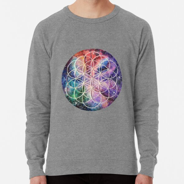 Sacred Geometry Flower of Life art Lightweight Sweatshirt