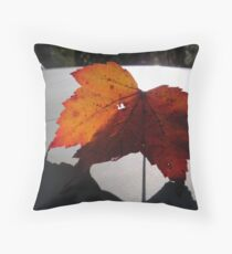 A Leaf and Its Shadow Throw Pillow