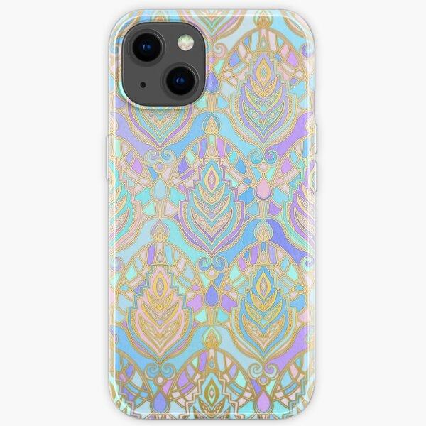 Jade & Blue Enamel Art Deco Pattern iPhone Soft Case