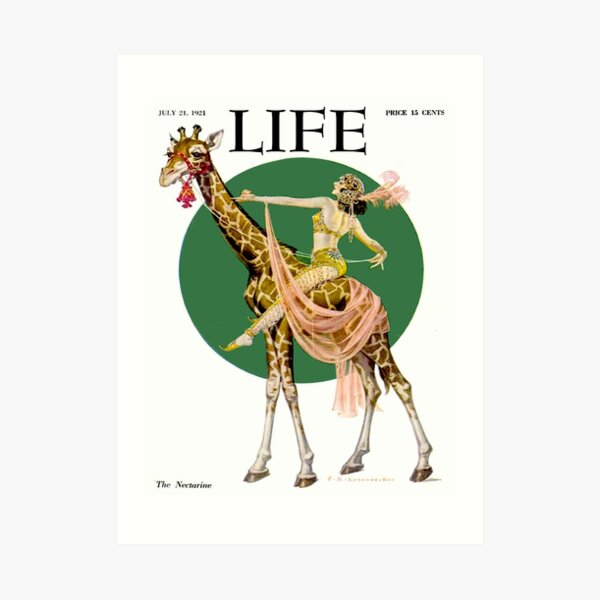 LIFE : Vintage 1921 Magazine Advertising Print Art Print