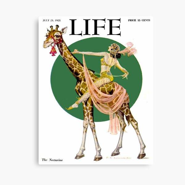 LIFE : Vintage 1921 Magazine Advertising Print Canvas Print