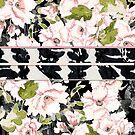 """Pink Peony Blossoms with Shibori """"Obi"""" by SandAndChi"""