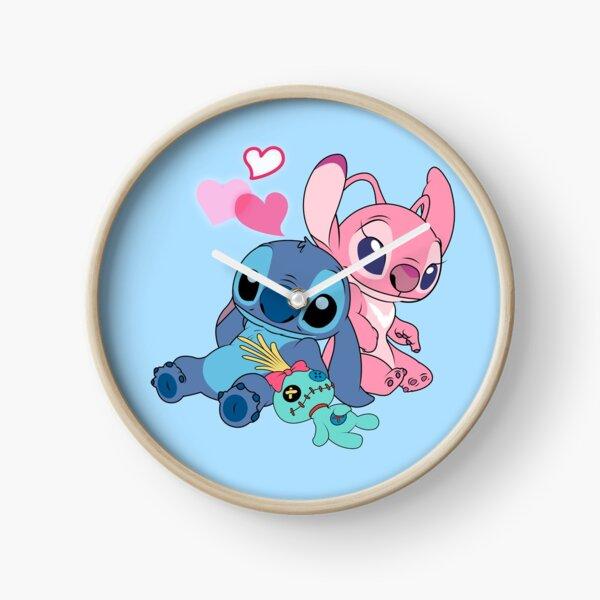 Stitch & Angel 2 Clock