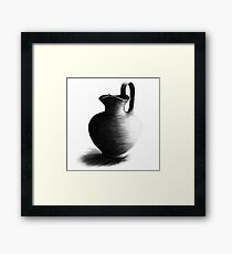 Charcoal Drawing of a Milk Jug Framed Print