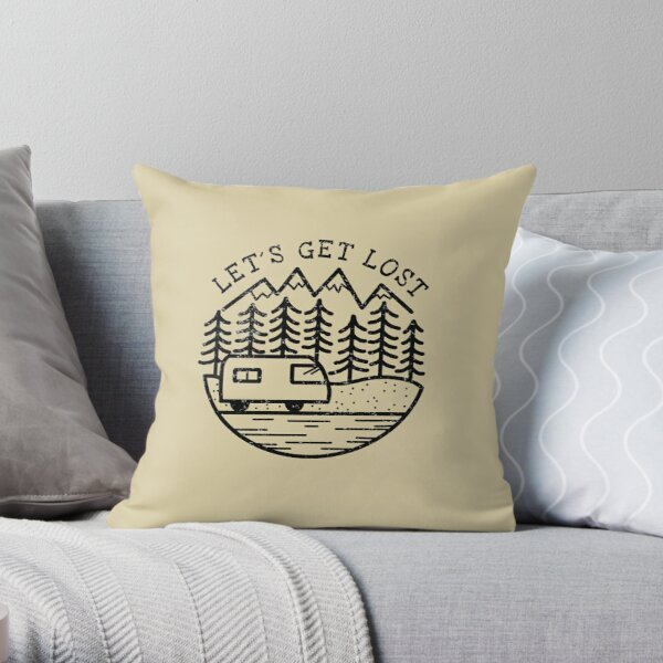 LET´S GET LOST Throw Pillow