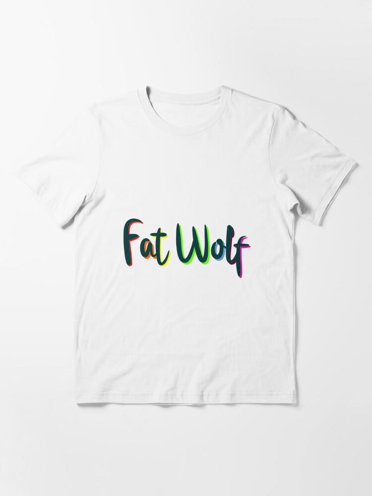 Alternate view of Fat Wolf Rainbow (Black) Essential T-Shirt