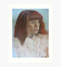 robed redhead Art Print