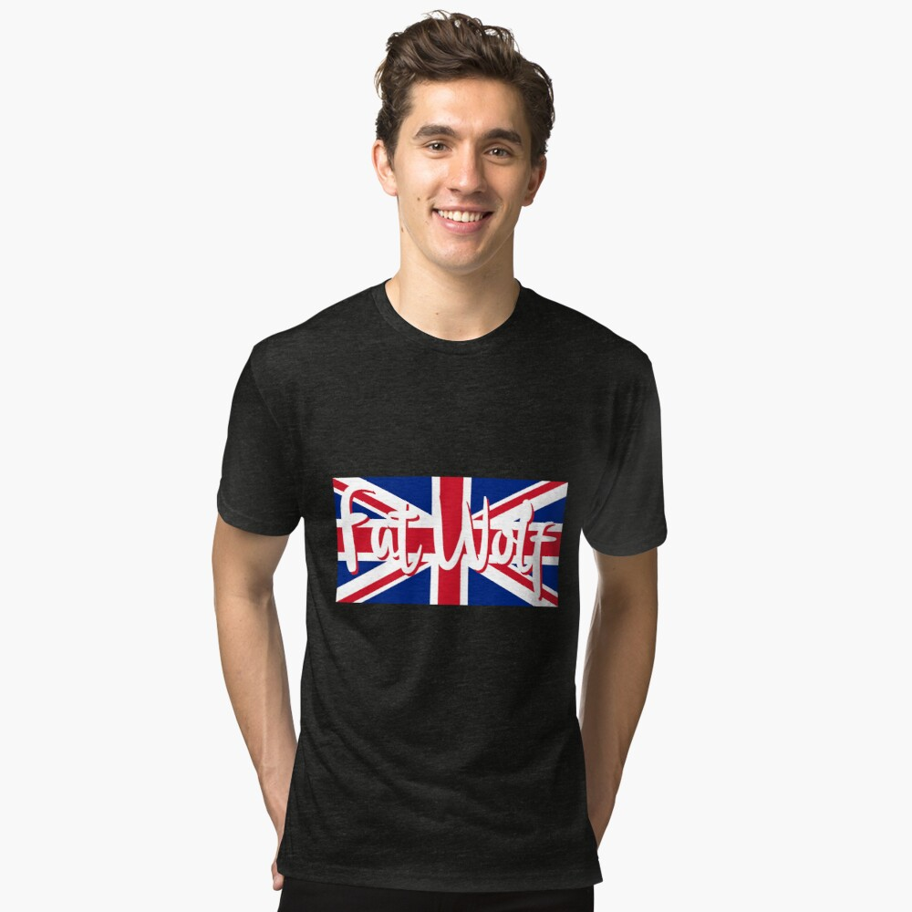 Fat Wolf Union Jack Tri-blend T-Shirt