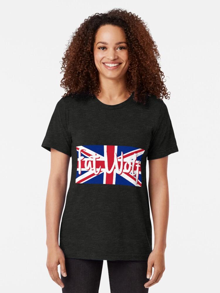 Alternate view of Fat Wolf Union Jack Tri-blend T-Shirt