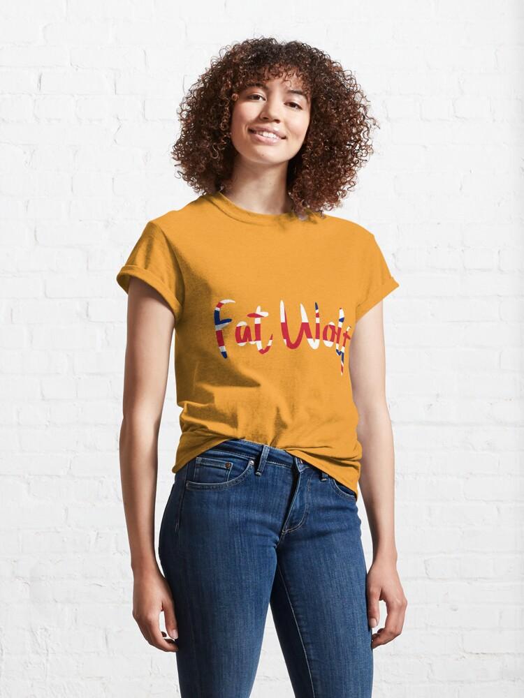 Alternate view of Fat Wolf Logo (Union Jack) Classic T-Shirt