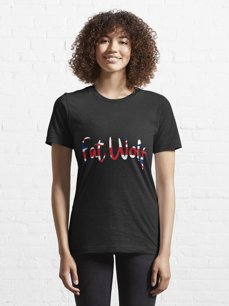Alternate view of Fat Wolf Logo (Union Jack) Essential T-Shirt