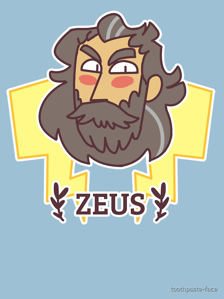 Holy Heads: Zeus de toothpaste-face