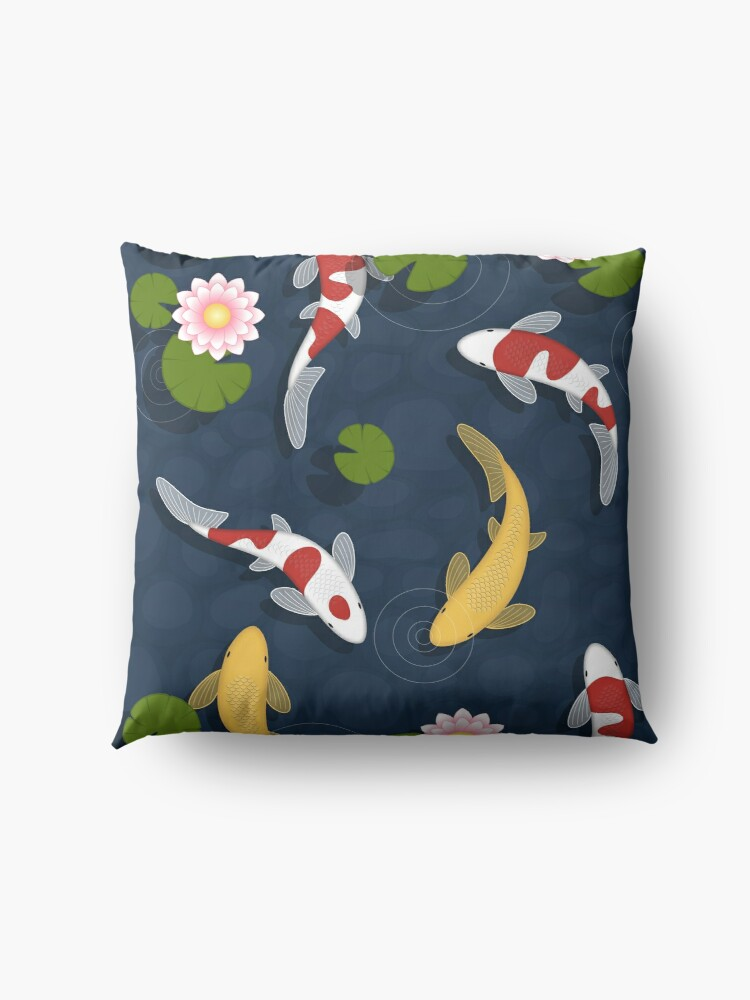 Alternate view of Japanese Koi Fish Pond Floor Pillow