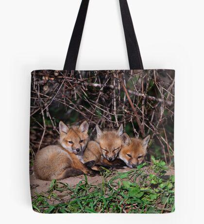 Fox Kits 8 Tote Bag