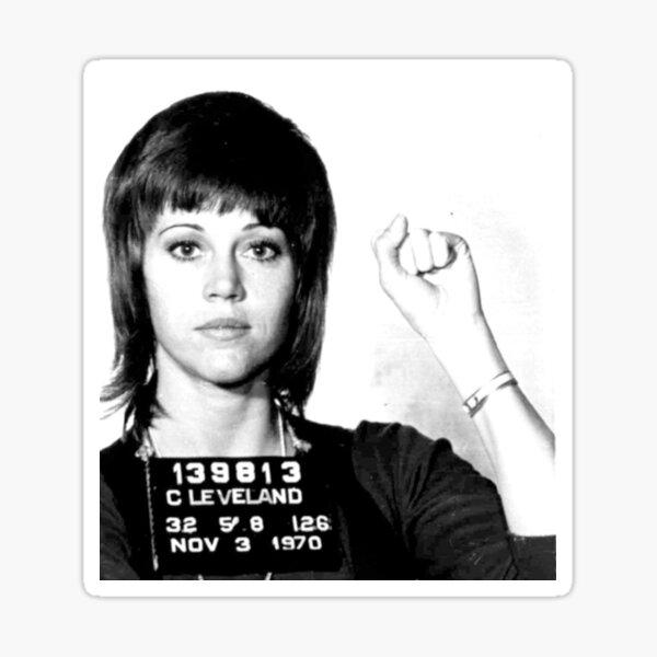 Jane Fonda Mugshot Sticker