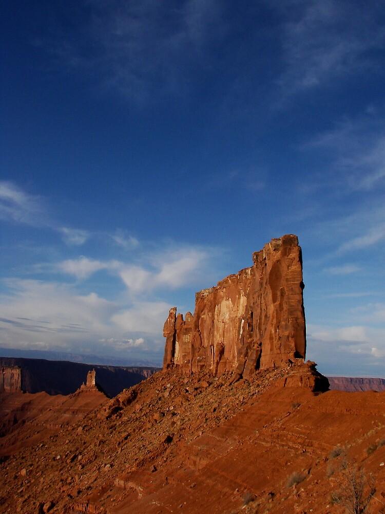 Where the desert meets the sky. by Stefan D