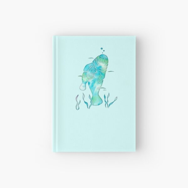 Aqua Sea Manatees Hardcover Journal
