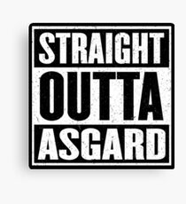 Straight Outta Asgard - Avenging the Hood - Movie Mashup - Geek Humor & Comics Canvas Print