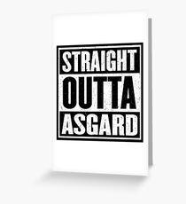 Straight Outta Asgard - Avenging the Hood - Movie Mashup - Geek Humor & Comics Greeting Card