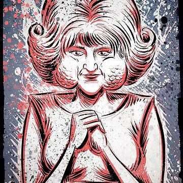 Eraserhead Lady in the Radiator Art Print David Lynch Eraser Head Twin Peaks Experimental Avant Garde Joe Badon Film Movie Poster Drawing by joebadon