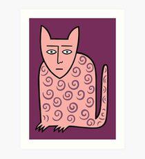 Alan the happy cat Art Print