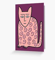 Alan the happy cat Greeting Card