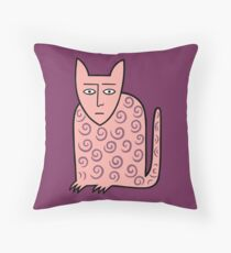 Alan the happy cat Throw Pillow