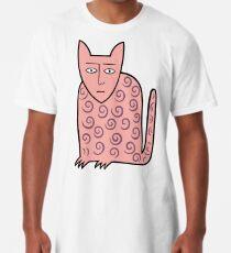 Alan the happy cat Long T-Shirt