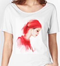 Fashion woman profile portrait  Women's Relaxed Fit T-Shirt