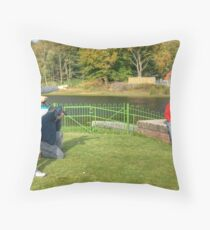 The Backbarrow Photoshoot Throw Pillow