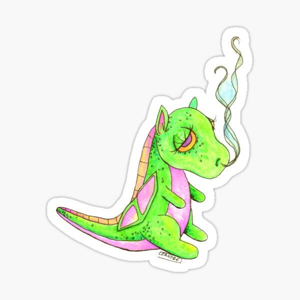 Poof the Sleepy Dragon Sticker