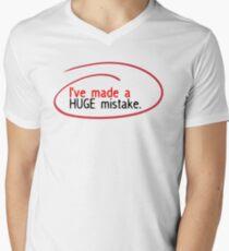Huge Mistake Mens V-Neck T-Shirt