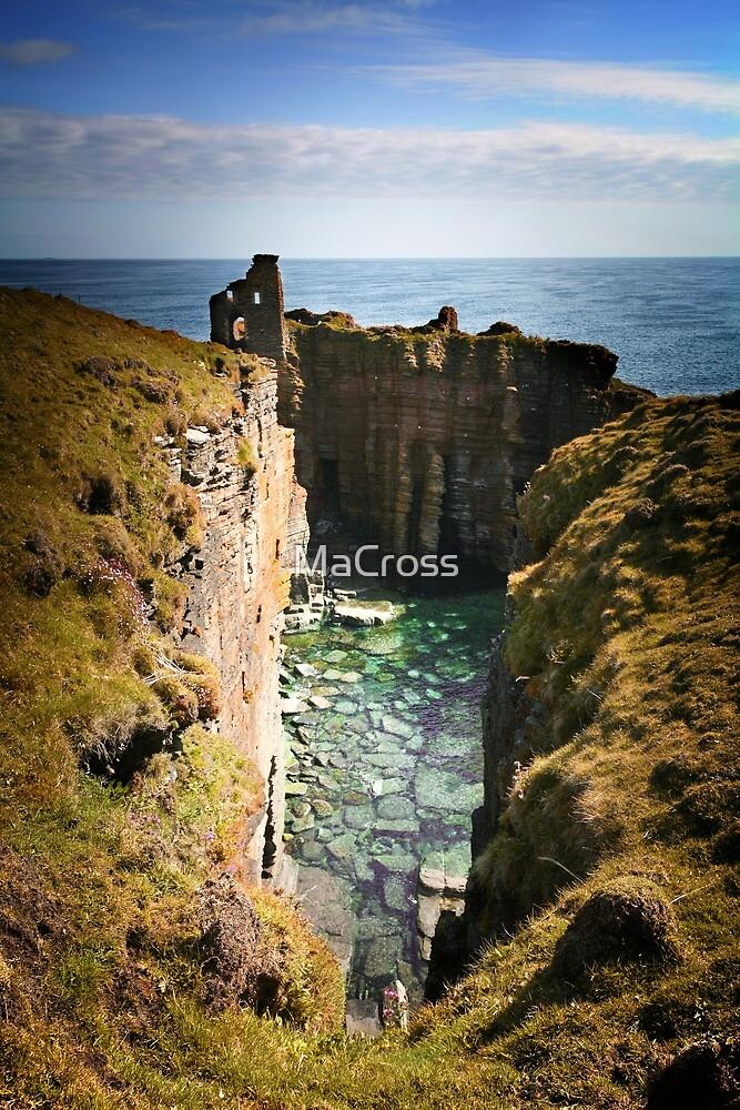 Buchollie Caslte, Wick, Caithess, Scotland by Martina Cross