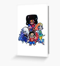 We....are the crystal gems! Greeting Card