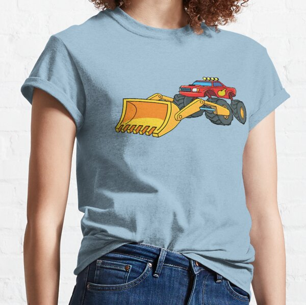 monster truck with excavator yellow bucket Classic T-Shirt