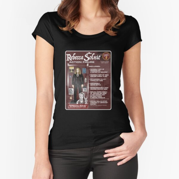 Rebecca Solnit Action Figure Fitted Scoop T-Shirt
