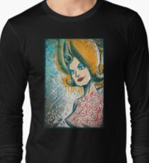 Mars Attacks art tim burton woman martian girl lisa marie poster drawing science fiction cult classic b-movie bmovie sci fi sexy joe badon Long Sleeve T-Shirt