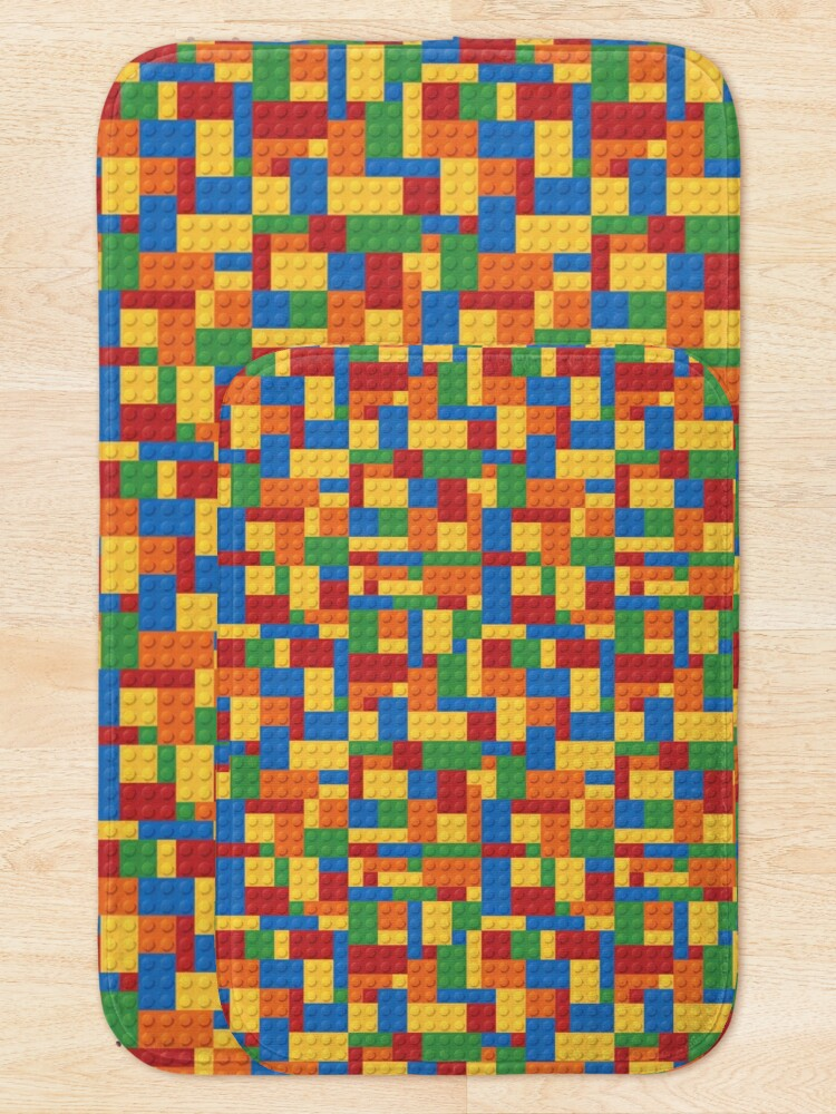 Alternate view of LegoLove Building Blocks Bath Mat