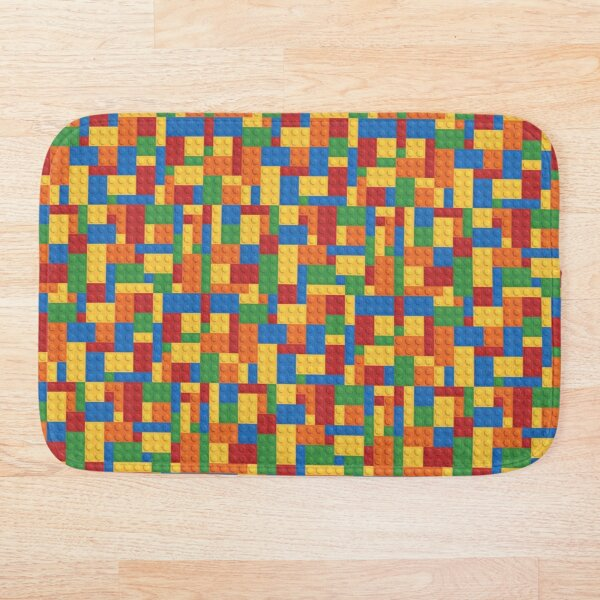 LegoLove Building Blocks Bath Mat