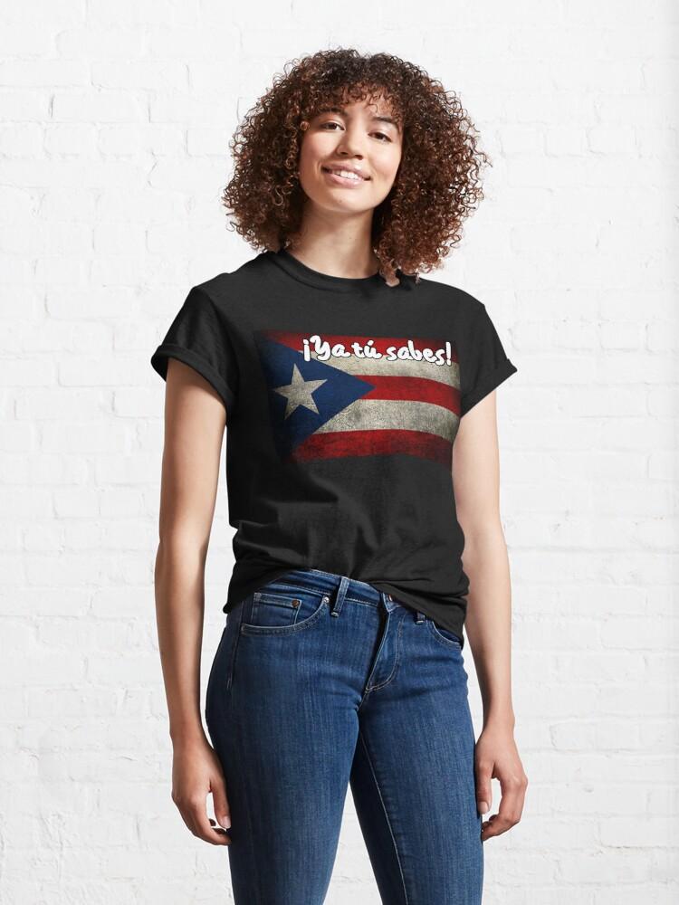 Alternate view of Ya tu sabes! Design Classic T-Shirt