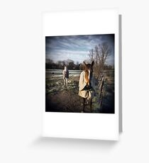 Winter Horses Greeting Card