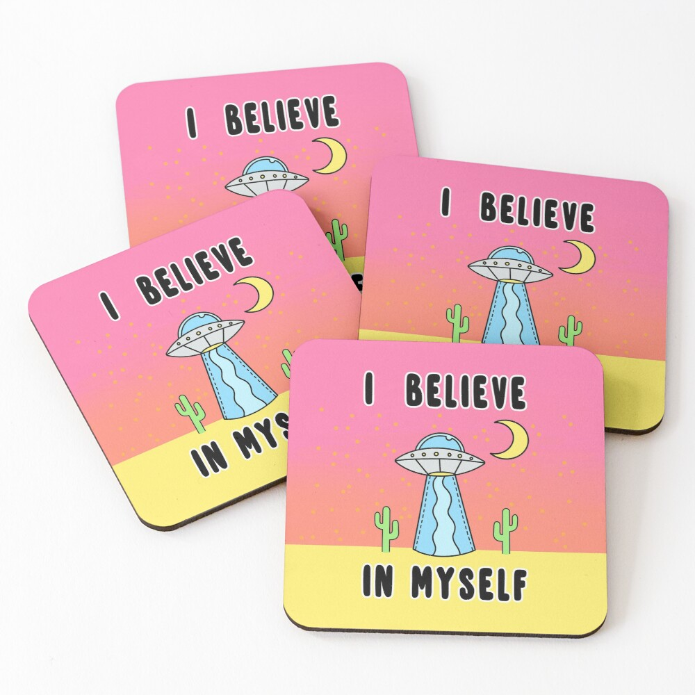 I Believe In Myself - The Peach Fuzz Coasters (Set of 4)