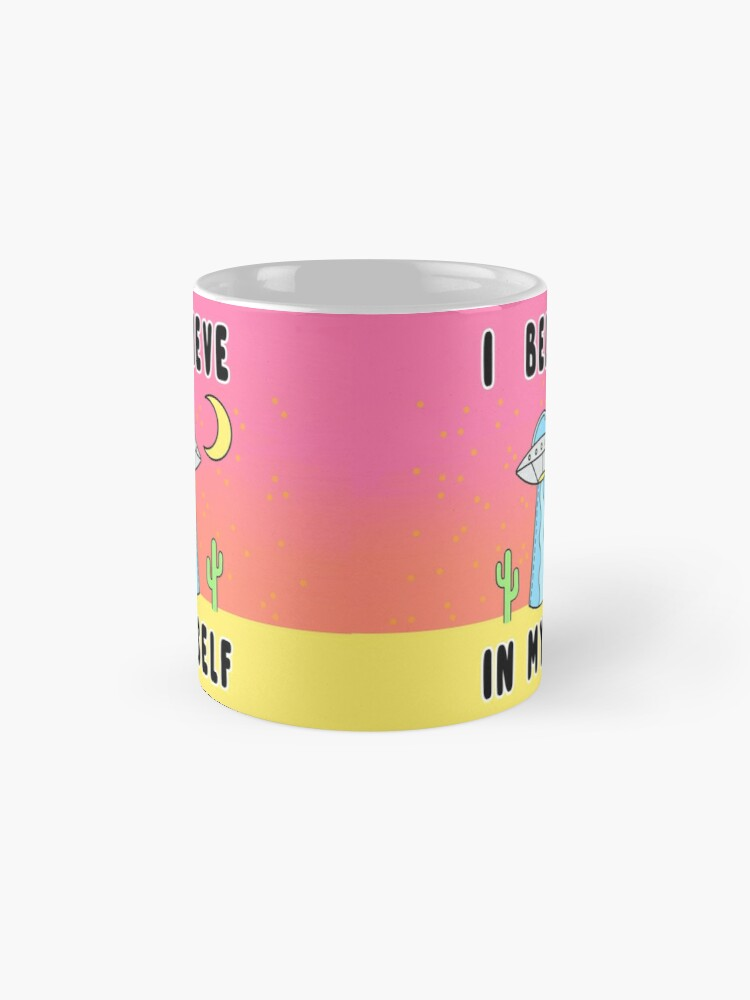 Alternate view of I Believe In Myself - The Peach Fuzz Mug