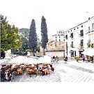 Ravello: bar on square by Giuseppe Cocco