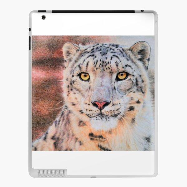 Snow leopard portrait iPad Skin