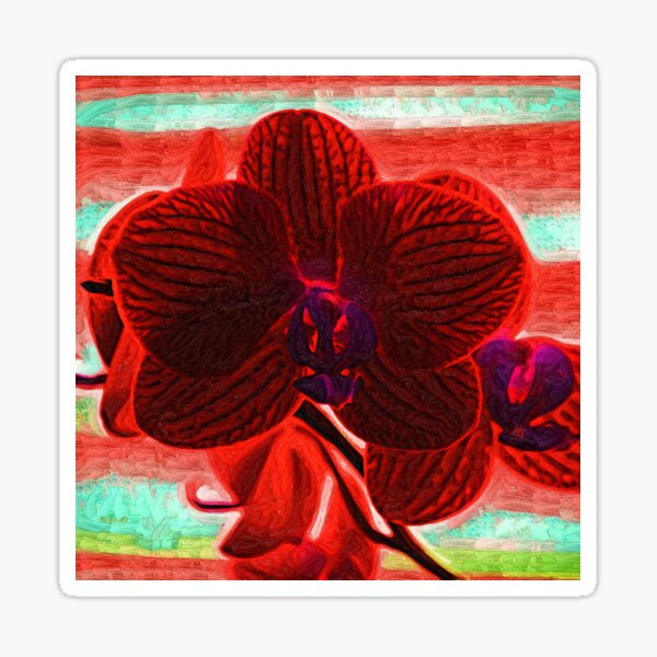 Blood Red Orchid Sticker