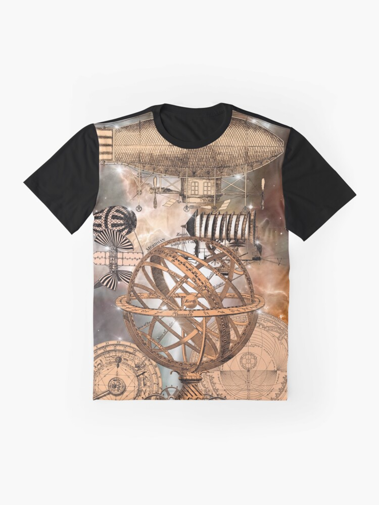 Alternate view of Steampunk Airship Graphic T-Shirt