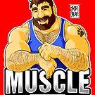 MUSCLE BEAR - BLUE OUTFIT by bobobear